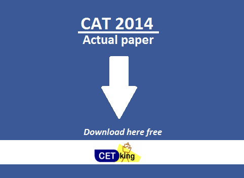 CAT 2014 paper download