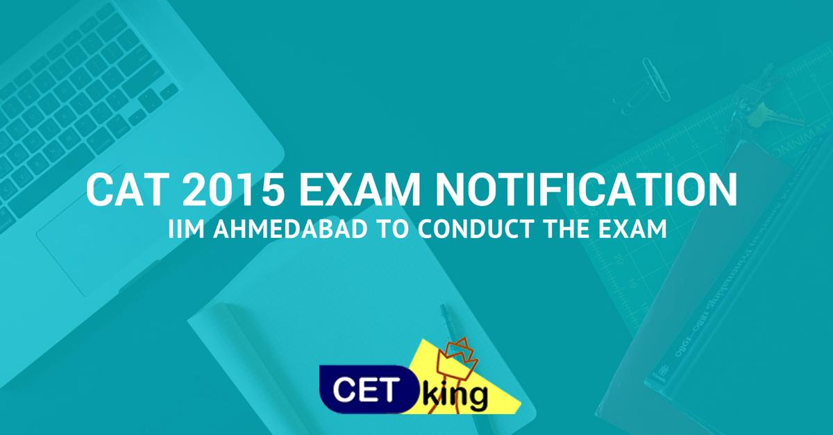 CAT 2015 Notifications