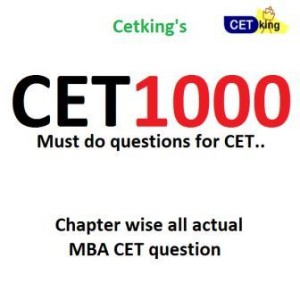 CET1000 Actual questions of MBA CET small