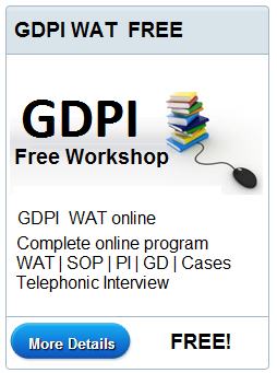 FREE GDPI WAT Workshop