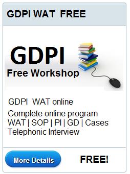 FREE GDPI WAT Workshop