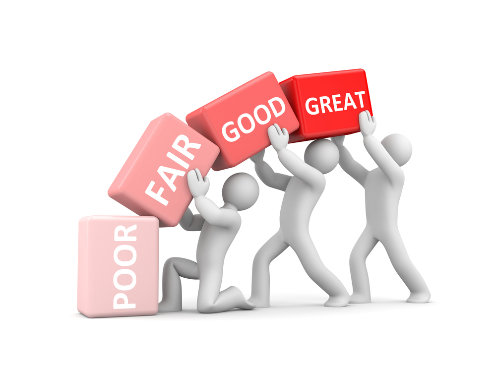 Improvement-poor-fair-good-great